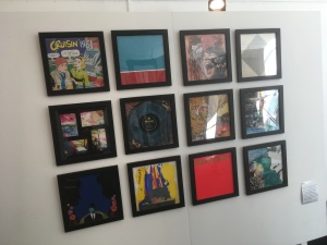 Image of a collection of art work featureing LP covers